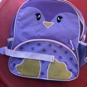 Owl purple and pink girls small book-bag